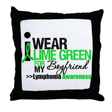 I Wear Lime Green Boyfriend Throw Pillow