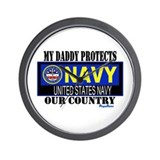 Navy Daddy Wall Clock
