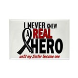 Never Knew A Hero 2 MELANOMA (Sister) Rectangle Ma