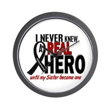 Never Knew A Hero 2 MELANOMA (Sister) Wall Clock