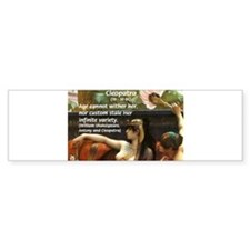 Antony and Cleopatra Bumper Bumper Sticker