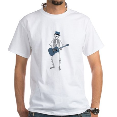 Bluesman Skeleton White T-Shirt