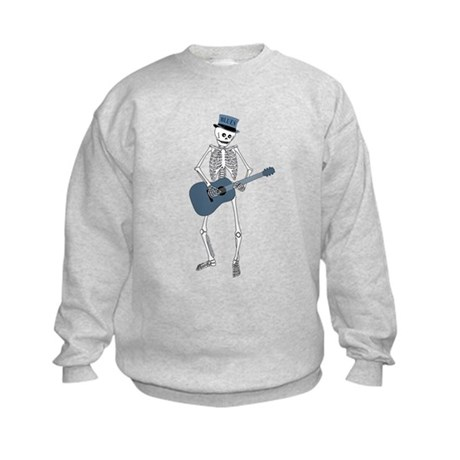 Bluesman Skeleton Kids Sweatshirt