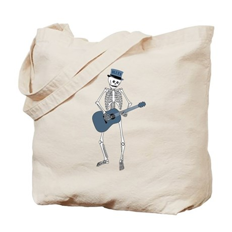 Bluesman Skeleton Tote Bag