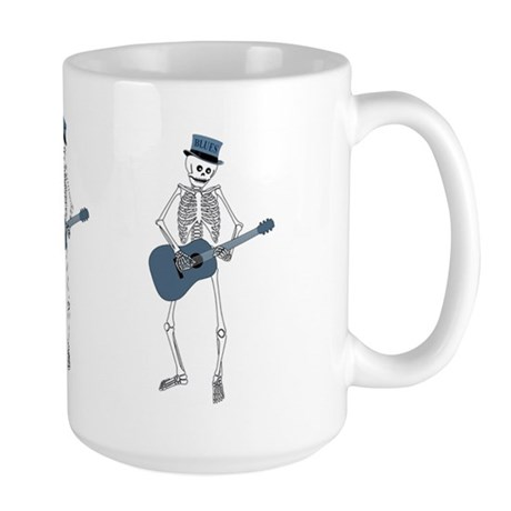 Bluesman Skeleton Large Mug