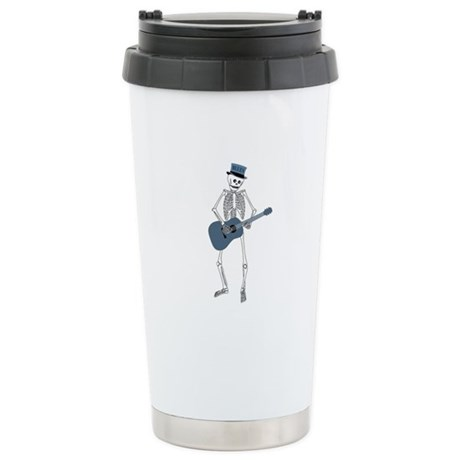 Bluesman Skeleton Ceramic Travel Mug