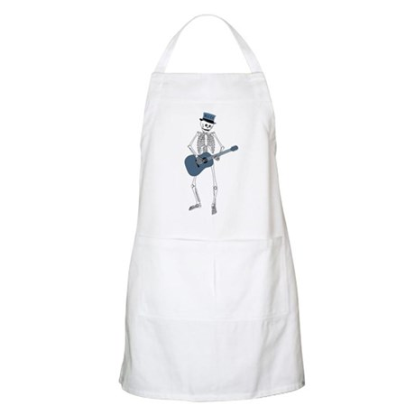 Bluesman Skeleton BBQ Apron