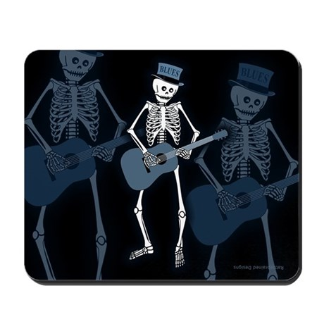 Bluesman Skeleton Mousepad