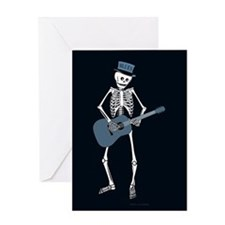 Bluesman Skeleton Greeting Card