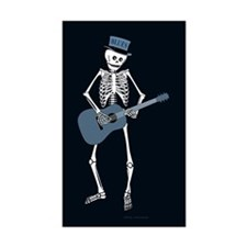 Bluesman Skeleton Rectangle Sticker 50 pk)