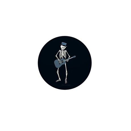 Bluesman Skeleton Mini Button