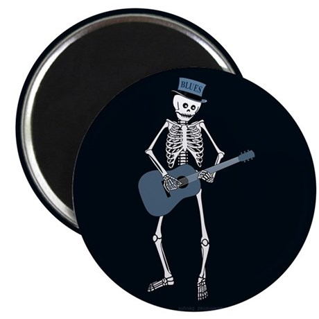 "Bluesman Skeleton 2.25"" Magnet (10 pack)"