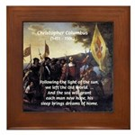 Christopher Columbus Framed Tile