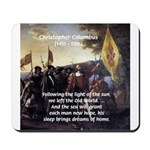 Christopher Columbus Mousepad