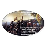 Christopher Columbus Oval Sticker