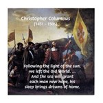Christopher Columbus Tile Coaster