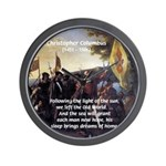 Christopher Columbus Wall Clock