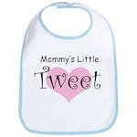 Mommy's Little Tweet - Pink Heart Bib