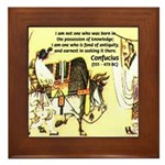 Eastern Thought: Confucius Framed Tile