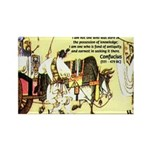 Eastern Thought: Confucius Rectangle Magnet (10 pa