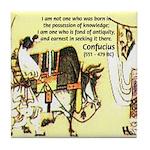 Eastern Thought: Confucius Tile Coaster