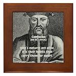 Eastern Wisdom: Confucius Framed Tile