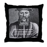 Eastern Wisdom: Confucius Throw Pillow