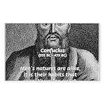Eastern Wisdom: Confucius Rectangle Sticker