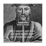 Eastern Wisdom: Confucius Tile Coaster