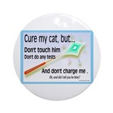 Cure My Cat Ornament (Round)