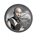 The 14th Dalai Lama Wall Clock