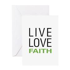 Live Love Faith Greeting Card