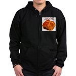 The Big Bun in the Oven Zip Hoodie (dark)