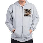 The Foxed Zip Hoodie