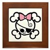 Dolly Bow II Framed Tile
