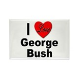I Love George Bush Rectangle Magnet (10 pack)