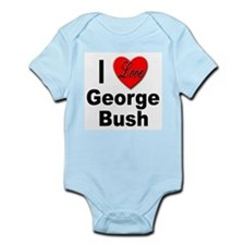 I Love George Bush Infant Creeper