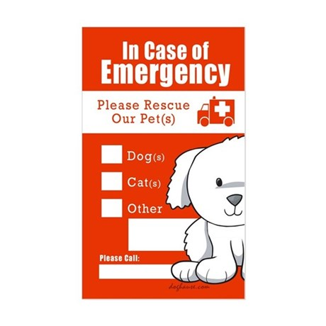 In Case of Emergency Rectangle Sticker