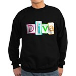 Abstract Diva Sweatshirt (dark)