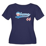 PRESIDENT OBAMA 44 Women's Plus Size Scoop Neck Da