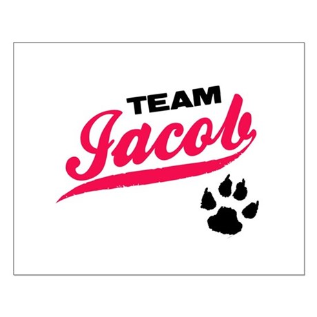 Team Jacob Twilight Small Poster