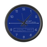 Blueprint Large Wall Clock