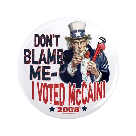 "I Voted McCain 3.5"" Button"