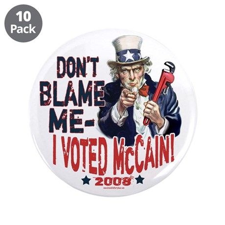 "I Voted McCain 3.5"" Button (10 pack)"