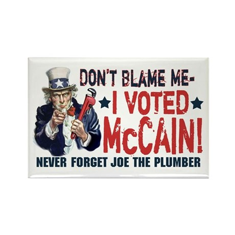 I Voted McCain Rectangle Magnet