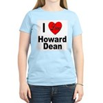 I Love Howard Dean Women's Pink T-Shirt