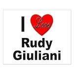 I Love Rudy Giuliani Small Poster