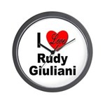 I Love Rudy Giuliani Wall Clock