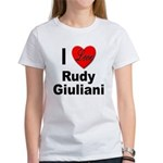 I Love Rudy Giuliani (Front) Women's T-Shirt
