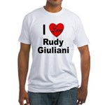 I Love Rudy Giuliani (Front) Fitted T-Shirt